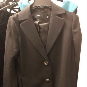 New 2019 black stretch crepe blazer